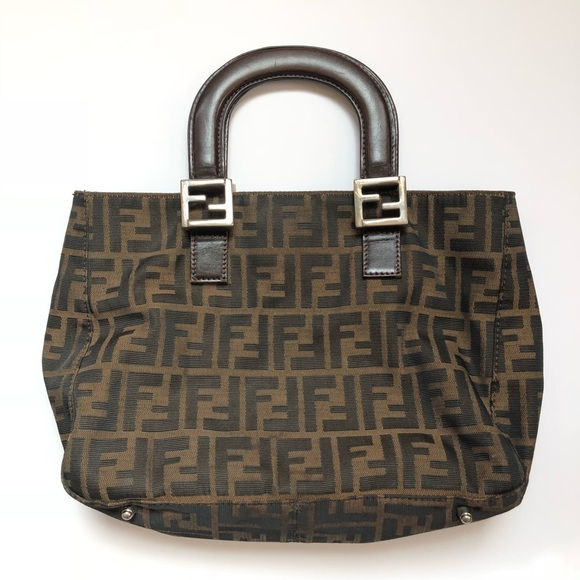 Fendi Handbags - Authentic Vintage Fendi Zucca Top Handle Satchel 56e36df13a6f5